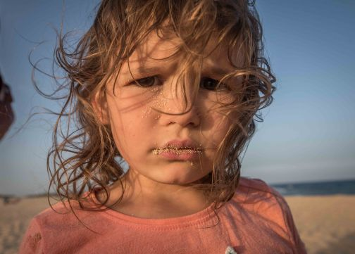 Schon wieder Sand im Gesicht