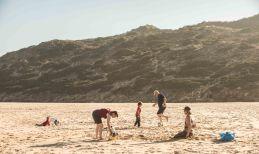 Kicken am Strand
